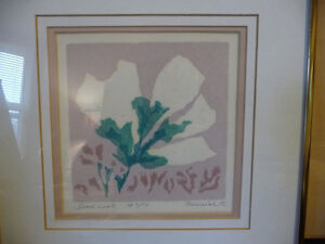 "Original Serigraph by Grace Perreiah ""Good Luck"" L/E 7/14 Stratford Kitchener Area image 2"