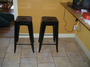 Metal bar stools (2)