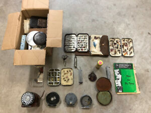 Five Hardy Bros. Fly Fishing Rods, Reels and Flies, and other
