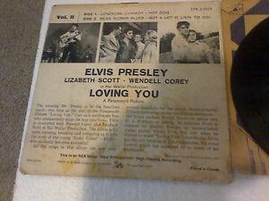 ELVIS PRESLEY LOST RECORDS PICTURE EP RCA 45RPM 1957 LOVING YOU Cambridge Kitchener Area image 7