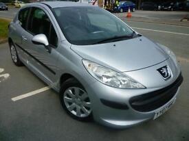2007 Peugeot 207 1.4 16v 90 ( a/c ) S 67665 miles silver shrewsbury