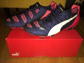 Puma Evo power 2.2 FG football boots men's size 10