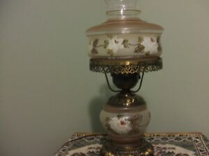 "17"" HAND PAINTED HURRICANE LAMP"