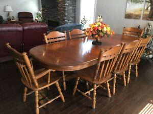 Solid Ash Dining Table Set