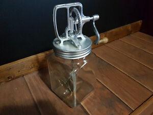 Antique Blow glass butter churn