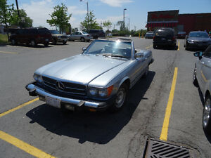 1980 450SL Mercedes Roadster Convertible