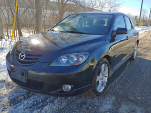 2005 Mazda 3 hatchback very low k certified and e-passed