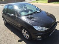 Peugeot 206 sport 1.4 2006, black, manual, 3doors, 93k, 1 yrs mot, (spares & repairs)