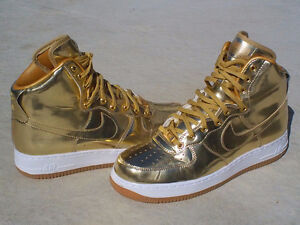 nike air force 1 high one gold id size 8.5 new