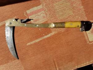 Antique 1800's Afganistan Banochie tribe Lohar folding pick axe