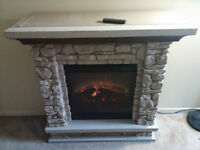 Working Electric Fireplace with remote for sale