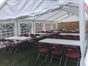 RENT NOW! Chairs, Tables, Lights and Tents for Cheap Prices!