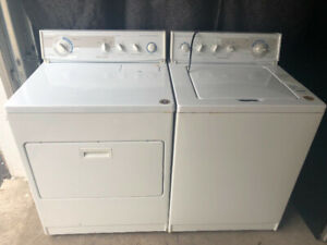 Kitchen aid white top load Washer electric dryer 320 both
