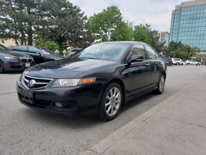 2008 ACURA TSX- 6 SPEED MANUAL-LEATHER-BLUETOOTH-AUX-AS IS