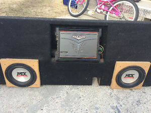 MX audio subs, amp and box