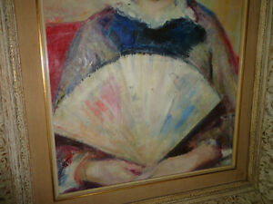 REAL PAINTING GIRL WITH FAN  AFTER RENOIR West Island Greater Montréal image 6