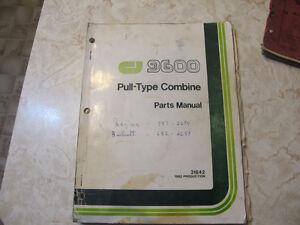Co-op Implements 9600 Combine Parts Manual