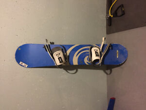 Rossignol snowboard with bindings