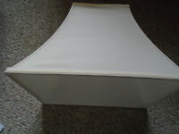 WHITE  LAMP SHADE LIKE NEW   - NEVER USED                   5$