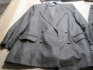 2 Women's Suits and 1 Suede Skirt and Vest (Matching)