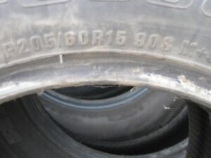FOR SALE TWO GOODRICH TIRES 205/60-R15 90 S M/S