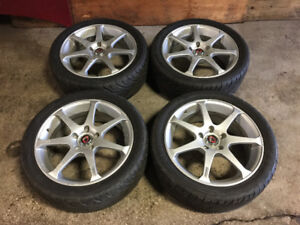 ONSOKU 17 INCH MAGS WITH TIRES 215/45R17 5X114.3 +45 FOR SALE