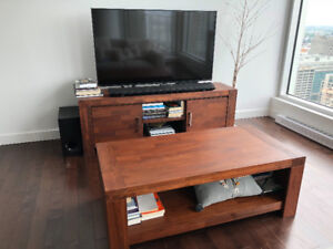 !! Combo TV Bench and Coffee Table - Structube - Walnut Colour