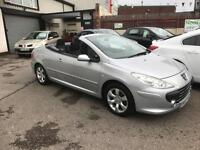 2007/07 Peugeot 307 CC 2.0 16v S (140bhp) 2dr Coupe Convertible ONLY 72257 Miles