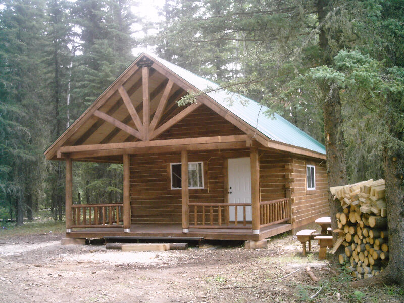 Square timber cabins other dawson creek kijiji for 20x40 cabin