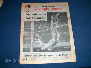 THE MONTREAL STAR OLYMPIC REPORT-7/27/1976-VINTAGE-JUMPERS