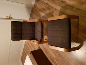 Ikea Poang Armchair and Footstool super discount.