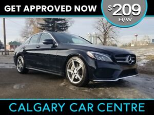 2016 MB C300 $209B/W TEXT US FOR EASY FINANCING! 587-582-2859