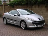 FINANCE AVAILABLE!! 2008 PEUGEOT 207 CC 1.6 16v GT 2dr CONVERTIBLE, ONLY 53000 M