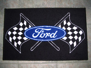 "Tapis d`entrée 29"" X 18"" Ford & Mustang"