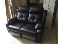 2 SEATS RECLINER COUCH IN ESPRESSO LEATHER