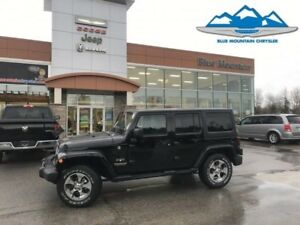 2017 Jeep Wrangler Unlimited Sahara  LIKE NEW DEALER DEMO SAVE T