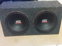 """2 MTX 12"""" 400W RMS Subwoofers"""