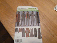 New sewing pattern for woman's wardrobe pants dresses jackets