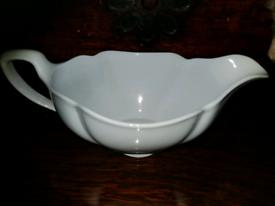 CHARITY SALE Antique Porcelain Sauce Dish Gravy Boat