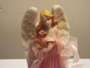 Angel holding baby deer ornament  NEW