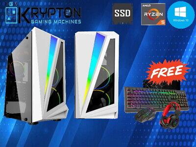 Ultra Fast Gaming PC Ryzen 5 3600X, 8GB RAM, 128SSD+1TB WiFi, Win10