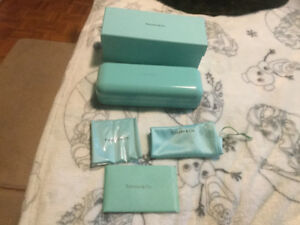 Tiffany eye glass case Brand New with all