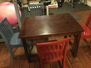Pottery Barn Kids Play Table and Chairs