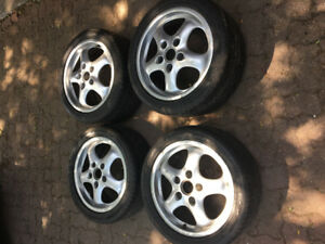 "Porsche 911 993 17"" rims tires $1400 neg"