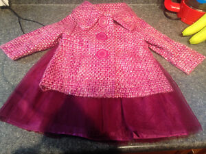 Dress + Matching Coat 18-24 mos Old Navy like new $20