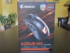 AORUS M3 Gaming Mouse w/ RGB LEDs, Black BNIB (New)