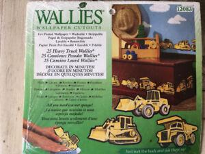 25 Heavy Dump Trucks Wallies Wallpaper Cutouts Kids Bulldozers