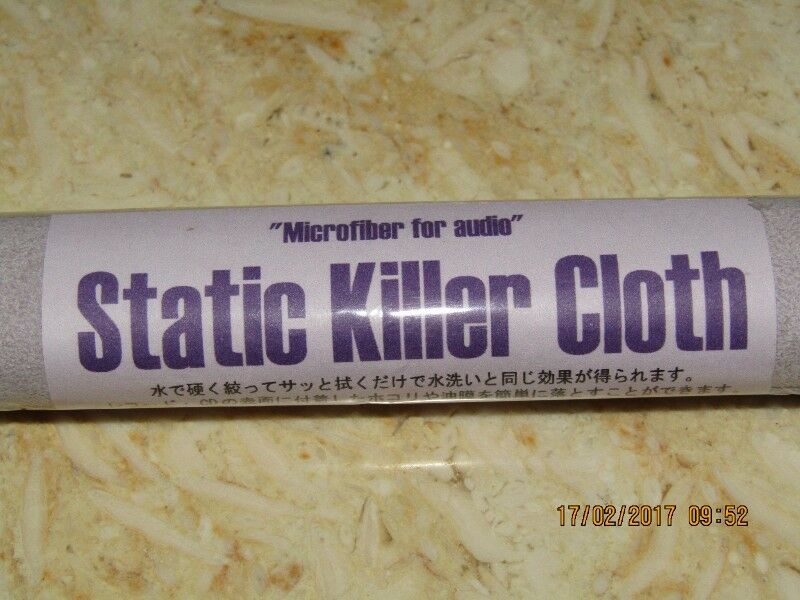 Audiophile SKC-II (Twin pack 20cmx30cm) Static Killer Cloth for Audio CDs or Vinyl Records (Japan)