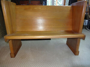Antique church pew