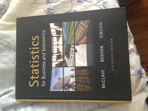 STATISTICS FOR BUSINESS AND ECONOMICS TEXTBOOK FOR SALE